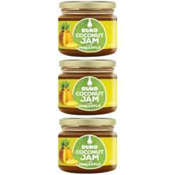 3 x Coconut Jam with Pineapple 330g by Buko (Fruity Spread)