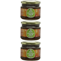 3 x Coconut Jam with Sea Salt 330g by Buko (Organic Spread)