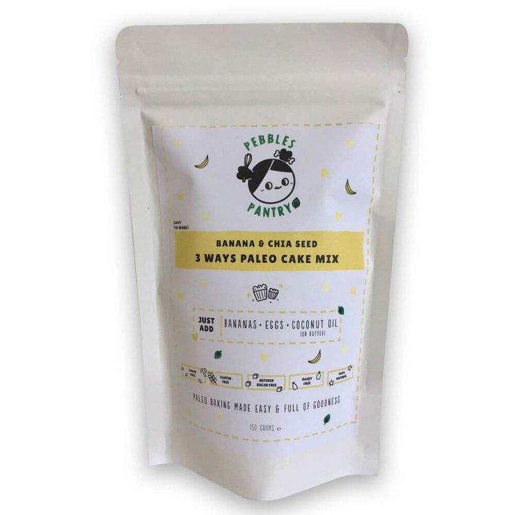 Banana & Chia Seed Paleo Cake Mix 170g with Medjool Dates & Coconut Flour