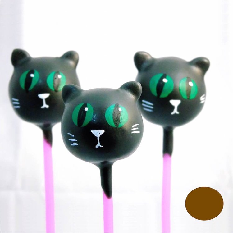 6 Black Cat Chocolate Cake Pops (for Gifts & Parties)