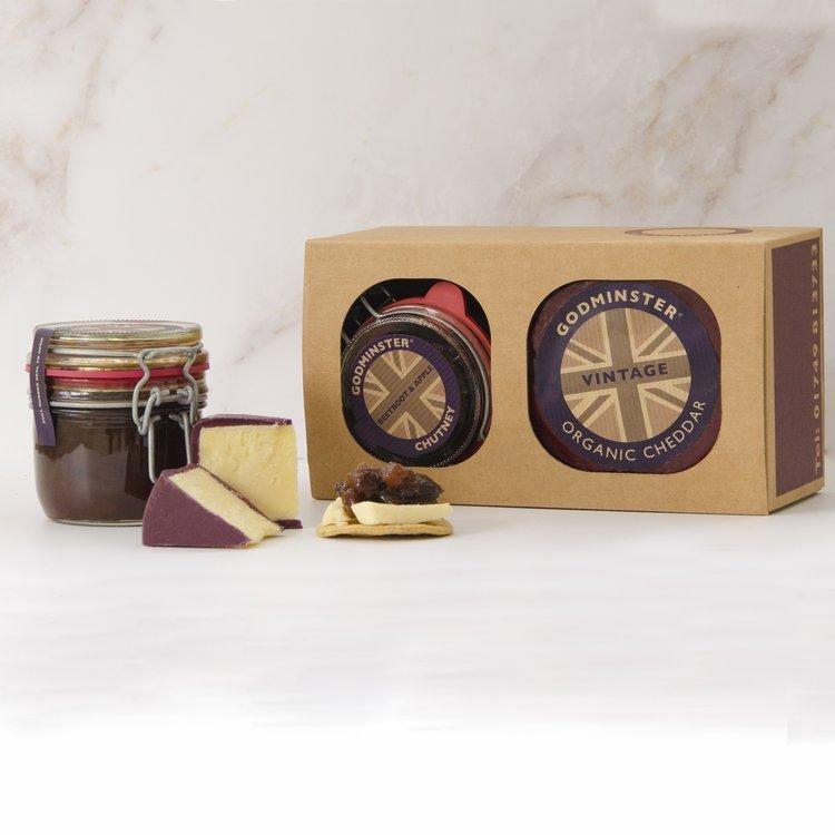 Chutney & Cheddar Gift Set by Godminster Inc. 400g Round Cheddar Cheese