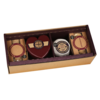 Cheese & Biscuits Gift Set Inc. Heart-Shaped & Oak Smoked Vintage Cheddar by Godminster