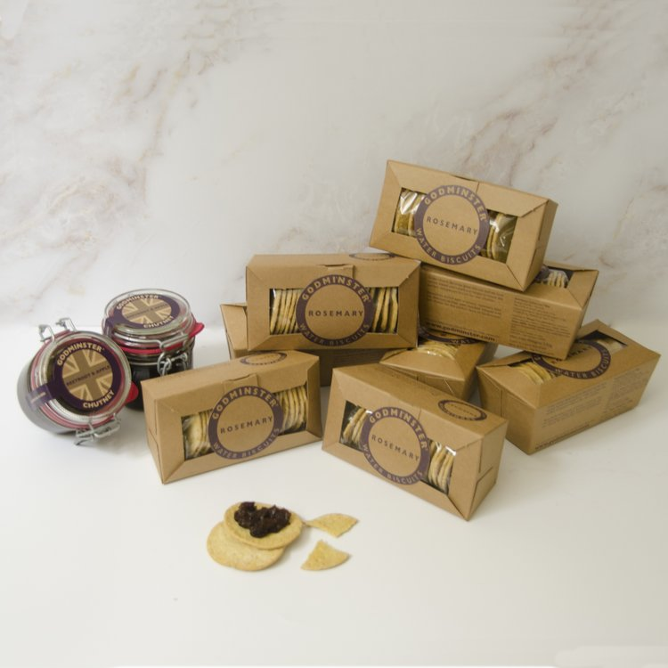 Godminster Chutney & Crackers For Cheese Accompaniment Party Pack