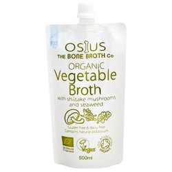 Organic Vegetable Broth with Shiitake Mushrooms & Seaweed 500ml by Osius