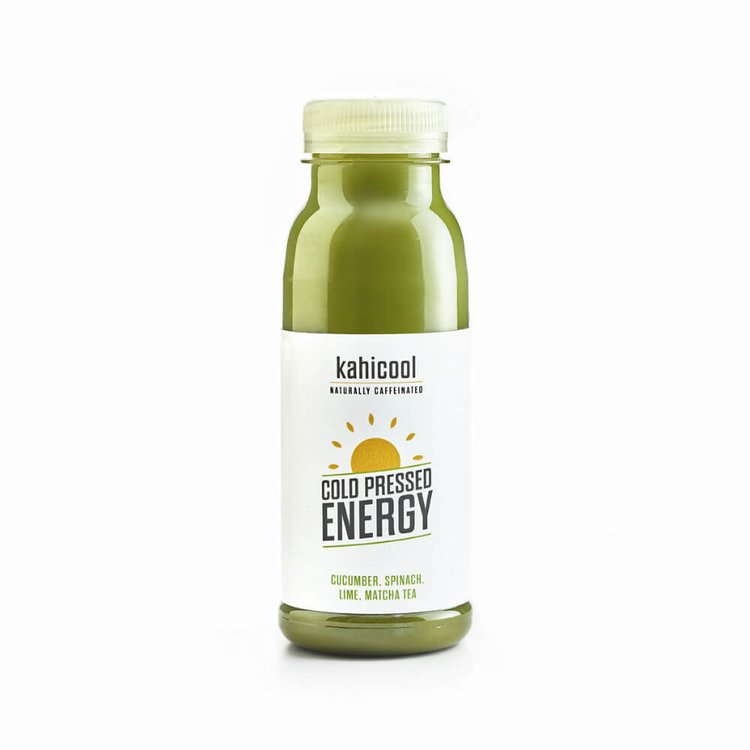 12 x Cold-Pressed Energy Juice Drink with Cucumber, Spinach, Lime & Matcha 250ml