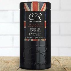 17 English Breakfast Black Tea Pyramid Bags in Tin Caddy 63g (Organic)