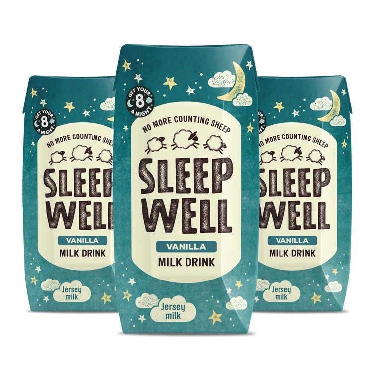 3 x 'Sleep Well' Vanilla Jersey Milk with Valerian Root 200ml