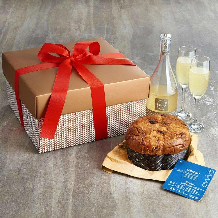 Italian Organic Prosecco & Vegan Panettone Gift Box