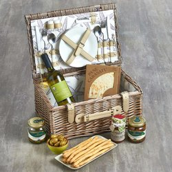 Italian Picnic Hamper for Two Inc. Chardonnay Wine, Paté & Olives