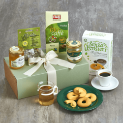 Italian Breakfast Hamper Inc. Coffee, Tea, Spreads & Biscuits