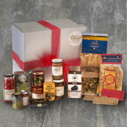 Vegan Italian Collection Hamper Inc. Oils, Sauces, Pasta, Modican Chocolate & Condiments