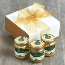 3 'Little Pots of Paradise' Sicilian Nut Spreads - Pistachio, Hazelnut & Almond