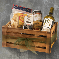 Italian Vegan Dinner Hamper for Two Inc. Antipasti, Pasta & Organic White Wine
