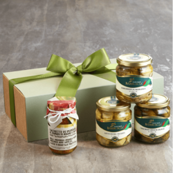 Italian Antipasti Taster Gift Set Inc. Olives, Peppers & Artichokes