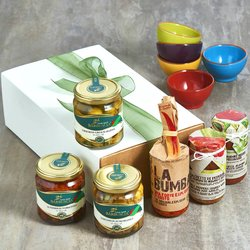 Gourmet Italian Antipasto Gift Box Inc. Olives, Peppers & Paté