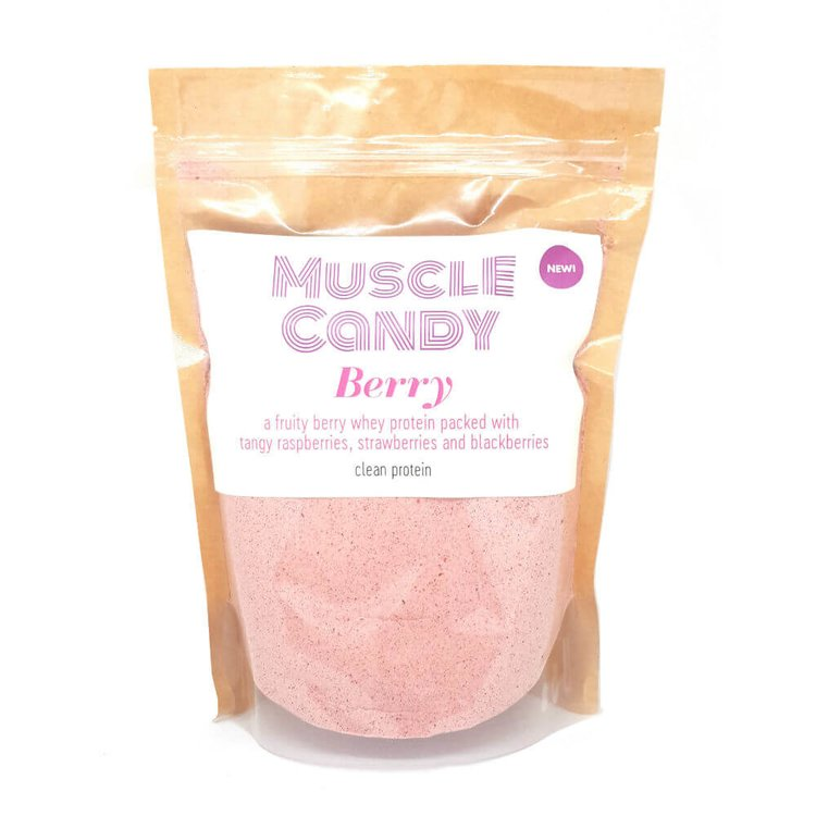 Berry Clean Whey Protein Powder (with Raspberries, Strawberries & Blackberries) 500g by Muscle Candy