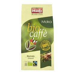 Ground Organic Fairtrade Italian Arabica Coffee 'BioCaffè' 250g (for Espresso Machines & Moka Pots)