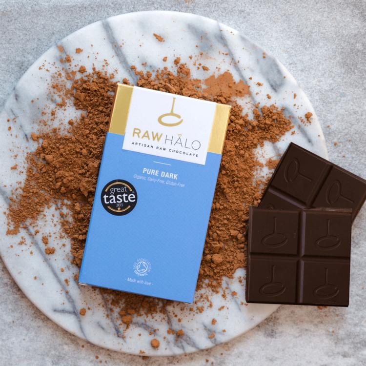 Organic Pure Dark Raw Chocolate Bar 35g