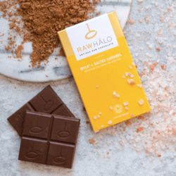 Organic Mylk + Salted Caramel Chocolate Bar 35g