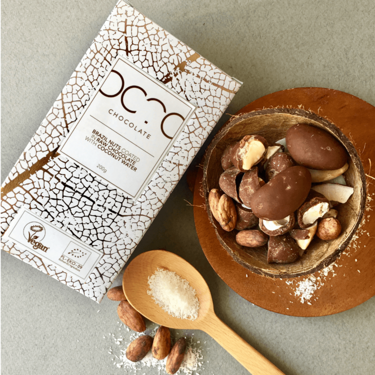Brazil Nuts Coated in Craft Chocolate with Coconut Water 200g (Vegan, Organic)
