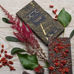 65% Dark Chocolate Bar with Goji Berries & Cocoa Nibs 140g (Vegan, Organic)