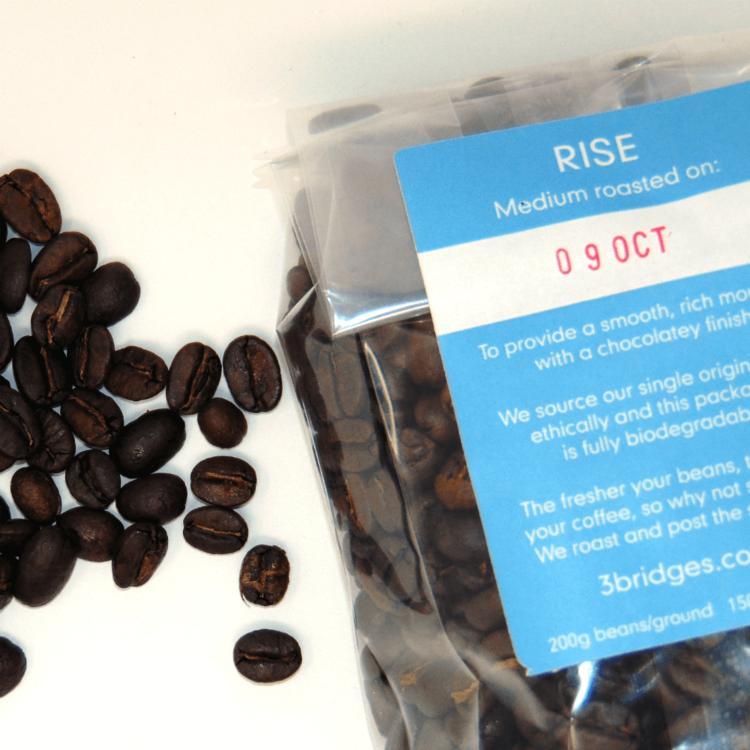 'Rise' 200g Medium Roast Sumatra Lintong Grade 1 Toba Blue Special Coffee Beans Single Origin