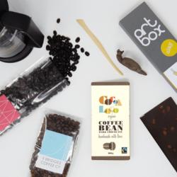Coffee Break' Gift Set with Coffee Beans, Dark Chocolate & Mini Clay Craft Box