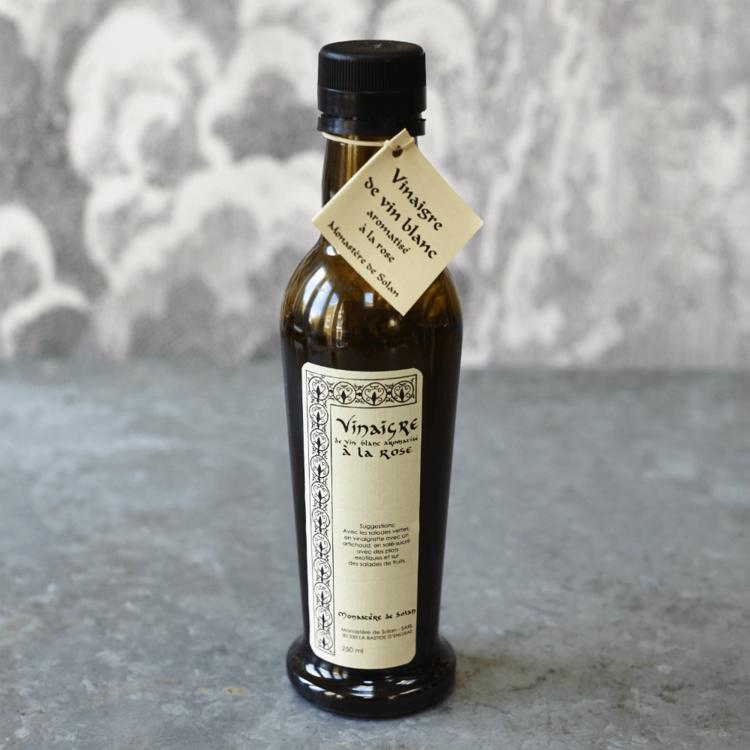 French Rose Petal White Wine Vinegar 250ml (Organic, For Baking, Salads, Fruits & Vegetables)