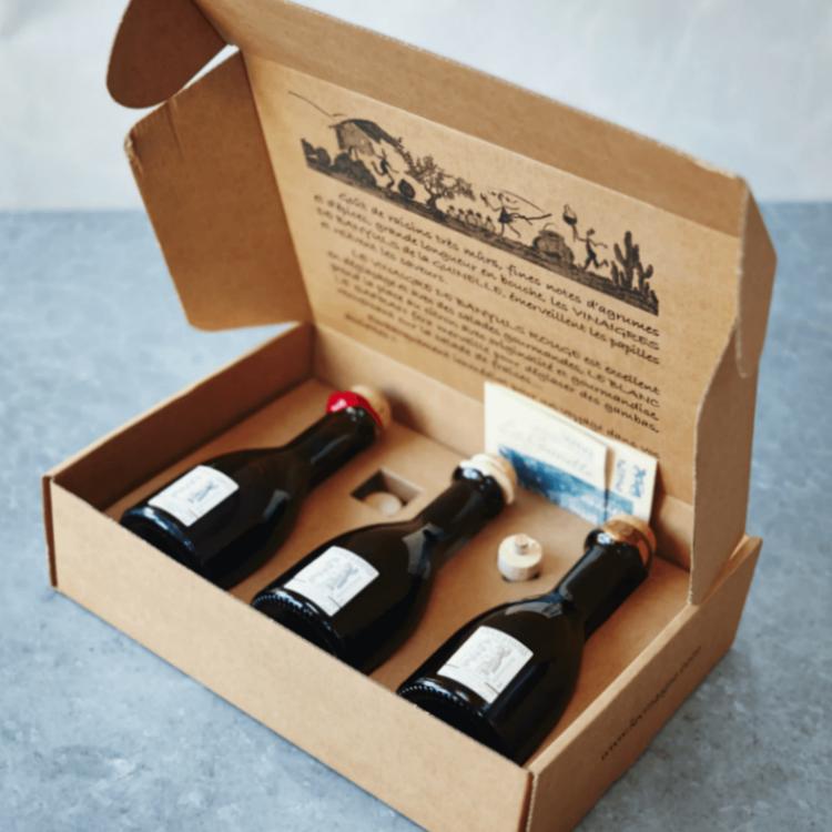 French Banyuls Vinegar Gift Set with Pourer (Inc. Red, White & Saffron Vinegars)