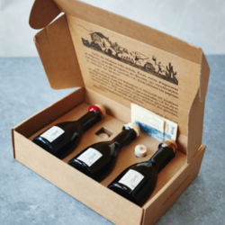 French Banyuls Vinegar Gift Set with Pourer (Inc. Red, White & Saffron Vinegars)