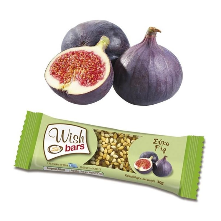 28 x Fig, Honey & Nuts Natural Energy Bar 30g by Wish Snacks