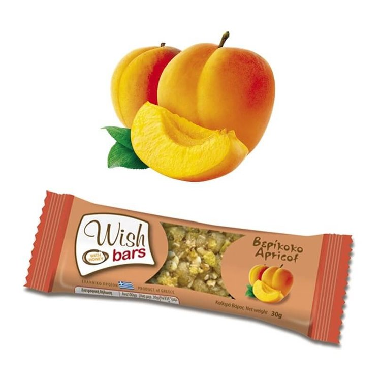 28 x Apricot, Honey & Nuts Natural Energy Bar 30g by Wish Snacks