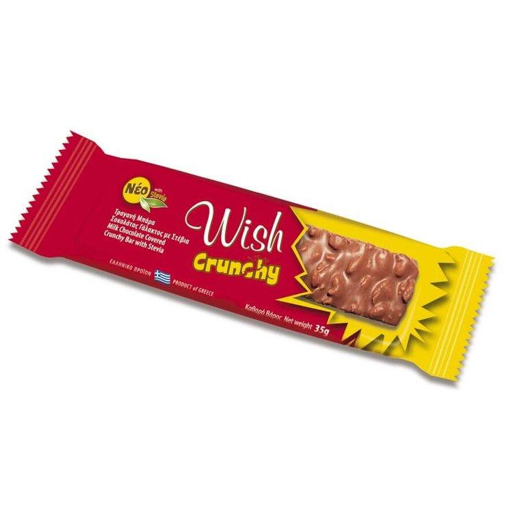 20 x 'Wish Crunchy' Cereal Bar with Milk Chocolate 35g by Wish Snacks