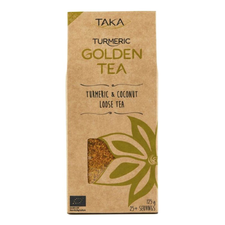 Golden Loose Leaf Turmeric Tea 125g (Ayurvedic, Caffeine-Free)