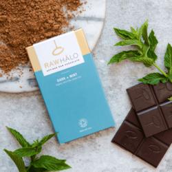 Organic Mint Raw Dark Chocolate Bar 35g