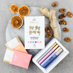 'Hip Hip Hooray' Organic Raw Chocolate Gift Box Inc. 6 x 35g Vegan Bars