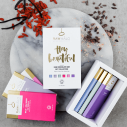 'Hey Beautiful' Organic Raw Chocolate Gift Box Inc. 6 x 35g Vegan Bars