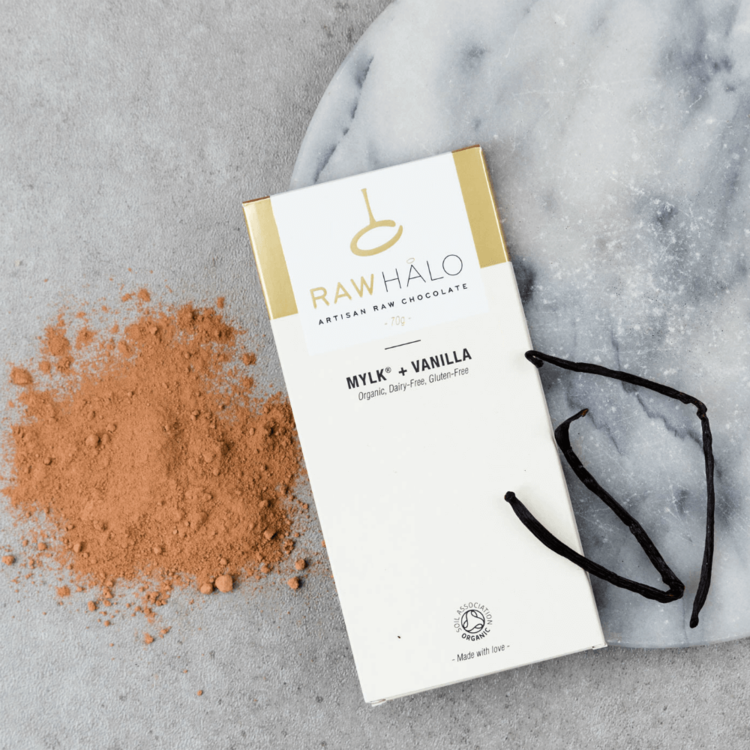 Organic Mylk With Vanilla Raw Chocolate Bar 70g