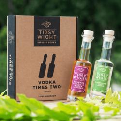 Vodka 'Spring' Liqueurs Gift Set with Rhubarb & Vanilla and Elderflower by Tipsy White