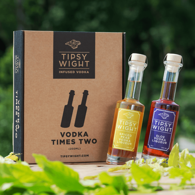 Vodka 'Winter' Liqueurs Gift Set with Sloe and Spiced Pear by Tipsy White