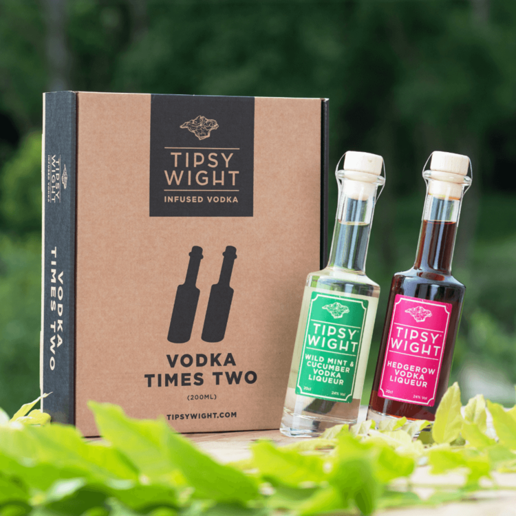 Vodka 'Summer' Liqueurs Gift Set with Hedgerow Berries and Wild Mint & Cucumber by Tipsy White