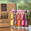 Vodka Liqueurs 'Hedgerow' Gift Set with 5 Flavours Inc. Spiced Pear, Sloe & Wild Plum by Tipsy White