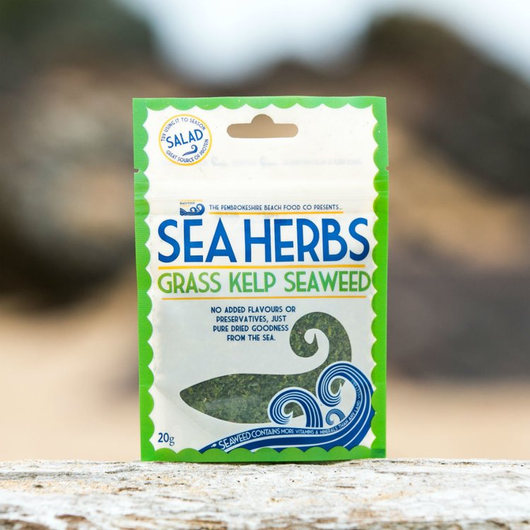 'Sea Herbs' Dried Wild Grass Kelp Seaweed Flakes 30g