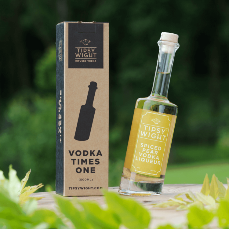 Spiced Pear Vodka Liqueur 50cl by Tipsy Wight with Box