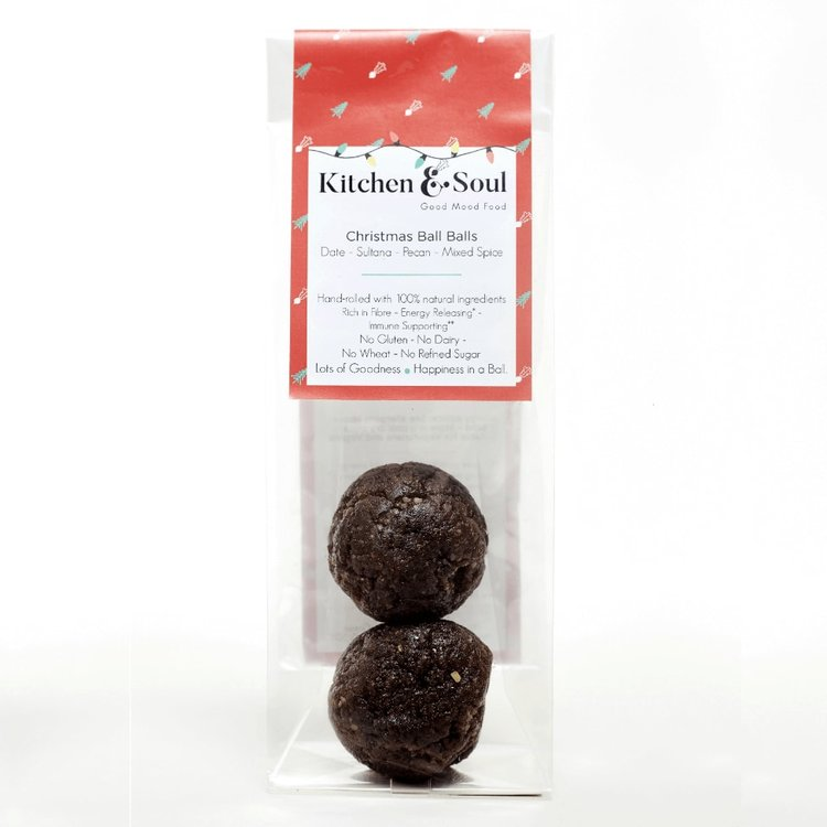 'Christmas Ball Balls' Energy Balls with Dates, Sultanas & Spices 60g