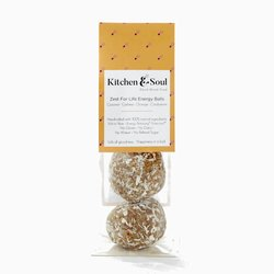 'Zest For Life' Tangy Energy Balls with Orange, Cashew, Coconut & Cardamon 60g