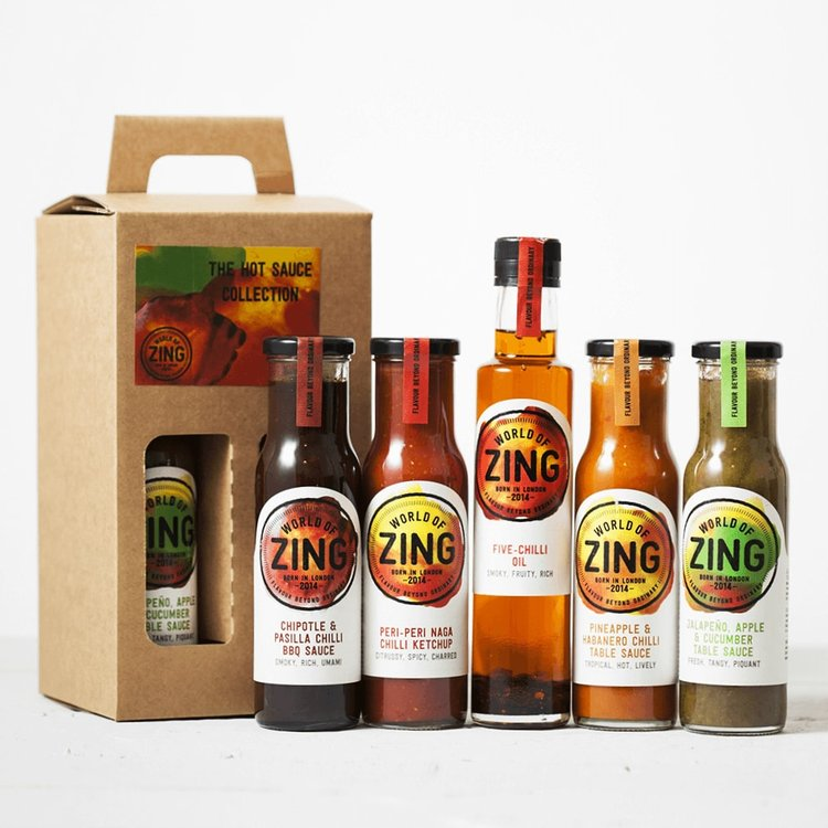 Hot Sauces Gift Box Inc. Peri Peri Ketchup, Chilli Sauces & Chilli Oil