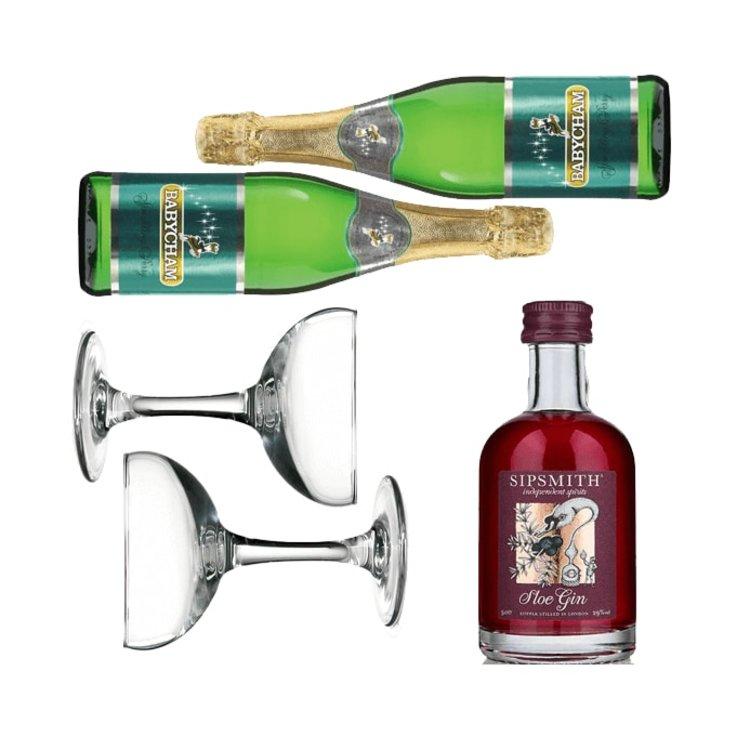 'Baby Shambles' Gift Set with Babycham & Sipsmith Sloe Gin