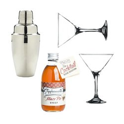Tipplesworth Mince Pie Martini Gift Set with Glasses & Cocktail Shaker