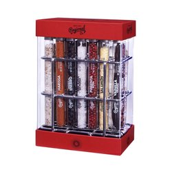 21 Premium World Herbs & Spices Gift Set Rack (For Cooking & Cocktail Making)